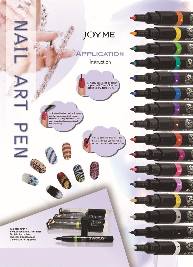 1PCS Nail Polish Nail Art Painting Pen(Assorted 16 Colors)&Nail Art Fingernail Polish pens(China (Mainland))