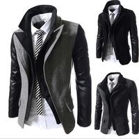 New Arrival Fashion Men's Winter Autumn Office Hooded Zipper Fashion Brand Men's Coats Slim Fit Turn-down Collar Jacket