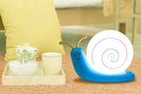 Lovely Snail Home Lamp LED Night Light Kids' Bedroom Wall Lamp USB Rechargeable (Blue)
