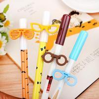 24pcs/Lot New Cute & Fashion Glasses Gel Pen Creative Pens Wholesale Korea Stationery Promotion Gift Gel Pen