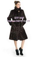 BG70758 New Show Style Genuine Mink Fur Coat For Lady Coffee Long Fur Coat Warm In Russian BiG Yards