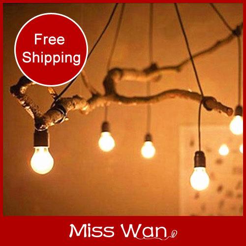 New! Vintage multi head pendant light restaurant coffee bar lamp 1.5m wire/calbe+5/6 head E27 lamp holder+ceiling base 110/220V(China (Mainland))