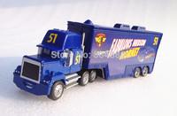 Best Gift!  Mack No.51 Fabulous Hudson Hornet Race Team''s Hauler Truck 1:55  Diecast Pixar Cars Toy  Free Shipping