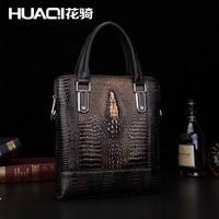2014 Freeshipping Silt Pocket Real Top Zipper Handbag Men Retro Business High-end Brand Leather Handmade Handbags Shoulder Bag