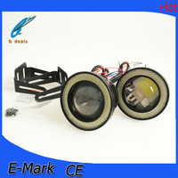 2.5 inch led cob fog light,cob fog lamp with led angel eyes
