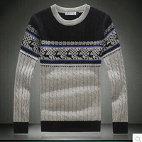 Hot sales Fall 2014 New Men Fashion Fawn Pullovers Cultivate One's Morality Leisure Round Collar sweater big yards Asia M-5XL