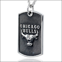 Hot Gift  Gothic Titanium Stainless Steel Basketball fans Bull Pendant  Necklace For Men's Birthday Gift Free shipping