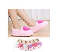 New Arrival Pregnant Antiskid Warm Winter Indoor Shoe For Woman, Big Hearts Soft Bottom Plush Home Indoor Slippers