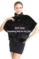 BG70824 New Style Real Mink Fur Vest For Women Black Color Slim Soft Fur Vest Winter Big Yards Free Shipping