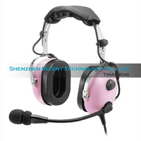 Free shipping Pink Headset PNR (Passive Noise Reduction) Aviation Headset IN-1000