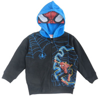 Retail 2014 NEWEST Children/kids/boys autumn clothing/ Spider-Man Costume Hoodie with zip / coat / jacket  (2 to 10 years)