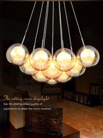 FREE shipping 4 Bubble Glass LED pendant light Any combination Modern minimalist fashion