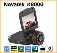 "Promotion Car Camera DVR K8000 Novatek 2.0"" LCD 1280*960 Full HD 140 Degree Wide Lens G-sensor Motion Detection Loop Recording"