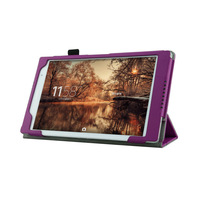 Xperia Z3 Tablet Compact  Case- Protective Folding Leather Smart Case For Sony Xperia Z3 Tablet Compact (2014 release)-Purple