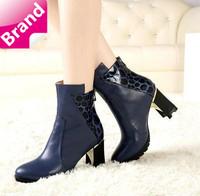 2014 new arrivals winter boots women fashion boots high heel motorcycle autumn women short boots