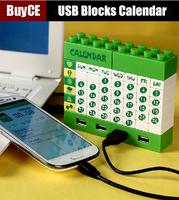 USB Blocks Calendar USB - a HUB boring play creative office supplies charging connector novel characteristics