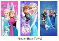 Frozen Elsa & Anna Princess Cartoon Baby Bath Towel Children Beach Bath Towel 60*120cm Frozen Bath Towel 3 Color To Choose