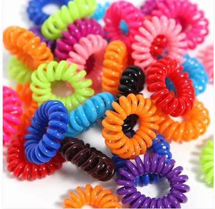 30PCS Hot Selling Plastic Hair Bands Head Colorful Rope Spiral Shape Hair Ties(China (Mainland))