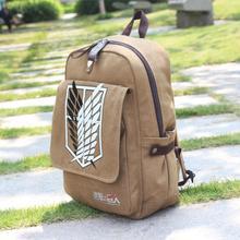NEW Quality Shingeki no Kyojin Attack on Titan Backpack Schoolbag Shoulder Bag free shipping