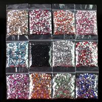 12 Colors Nail Art Acrylic Rhinestones 3mm Decoration 12000PCS Glitter Nail Tips