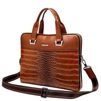 New Luxury Alligator Genuine Leather Men's Briefcase bag Business Handbag Fashion Brand Men Messenger Bags hot men's travel bag