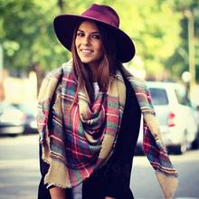 Winter 2014 Tartan Scarvs Plaid Scarf New Designer Unisex Acrylic Basic Shawls Women s Scarves Big