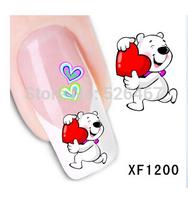 Fashion 1 Sheets 3D Design cute DIY cartoon colorful diamonds Tip Nail Art Nail Sticker Nails Decal  Manicure nail tools XF1200