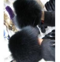 2014 sale champion style women real fox fur cuff sleeves wrist beautiful cuff