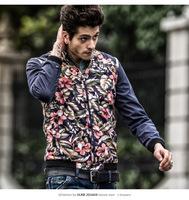 new arrival men cotton floral patchwork jackets ,autumn man hiphop coats outwear