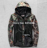 2014 winter bape men jacket hoodie camouflage camo Cardigan outwear Trench down embroidery windbreak waterproof sports coat