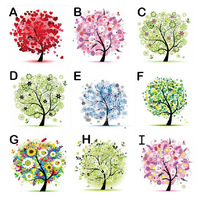 5D Happy Lucky Tree 3D diamond DIY cross stitch embroidery Full painting Decoration Free Shipping
