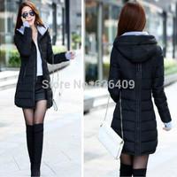 Sale Hot Women winter wadded jacket outerwear jacket slim girl women jacket medium-long cotton-padded jacket pink coats