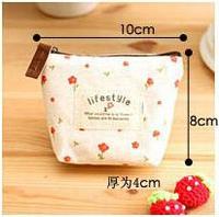 Vintage Women's Creative Round Coin Purse Zipper Bag Korean Floral Cloth Pouch ladies Wallets Clutch Purse 4 Colors 298-8