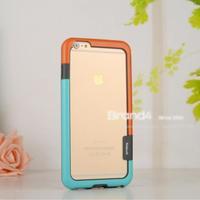 Fashion Korea Style Hybrid Soft Plastic + TPU Bumper Frame Case for iphone 6 5.5 inchfree Screen Protector