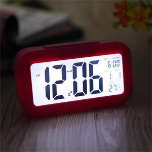 Ho драгоценные повтор электронный цифровой сигнализация часы из светодиодов подсветки лёгкие управление сигнализация часы о