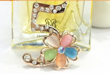 luxury brooches high quality 5 letter brooches with opal fasion women jewlery with 18k gold plated wholessales hot 2014