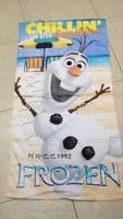 Hot Sale !75*150cm Frozen Olaf Towel Frozen Olaf Cartoon Baby Bath Towel Children Beach Bath Towel