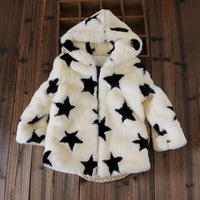 Stock + retail! Free shipping girls fashion star sweater coat thick warm winter hooded padded jacket 3 colors FXHD6802