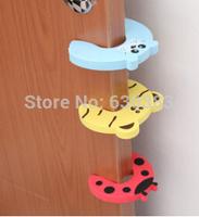 Children exit card door card cartoon animals card door stopper baby hand door clip to super cute gates doorways