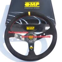 Racing Steering Wheel 350mm Diameter Suede Leather Car Steering Wheel Universal OMP Steering Wheel