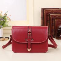 Direct factory price 2014 new candy color handbag shoulder bag Messenger PU stereotypes College Wind handbag wave packet