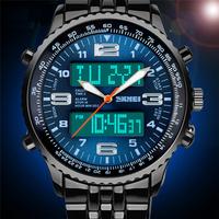 2014 Watches Men sport Casual Luxury Brand led clock men army military Wristwatches Men Full Steel Digital Quartz Watch relogios