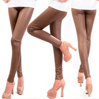 Fashion Wholesale Faux Leather Leggings For Women Lady Leggins Pants New Sexy Leather Boots Pants Free Shipping HO852111