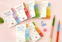 Free Shipping 20PCS/LOT Rainbow Sticky notes Multicolor Scrapbooking Stickers Double color Bookmark Memo Pad Promotion Gift
