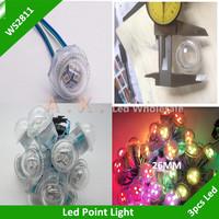 50Pcs/Lot  DC12V SMD5050 Dimmeter 26mm Led Pixel Module WS2811 Full Color Pixel Point Light