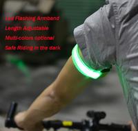 Free Shipping 10pcs/lot Led Flashing Armband With Magic Tape, LED Safety Warning Armband For Outdoor Riding, Length Adjustable.