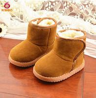 Retail 1 pcs 2014 New Child Warm Girls Boys Boots Fashion Short Sliver Thick Snow Boots Children Shoes Kids Size 6-8.5 AB511