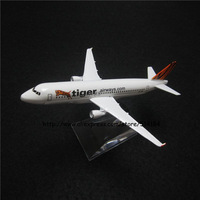 16cm Alloy Metal Air Air Singapore Tiger Airlines Airbus 320 A320 Airways Plane Model Aircraft Airplane Model w Stand Toy Gift