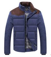 2014 new men's winter jacket coat men thick padded jacket cheap wholesale free shipping
