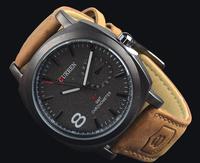 free shipping CURREN Men Wristwatch Men Watch Military Watch Men Genuine Leather Strap Sports Watches Fashion Casual Watch